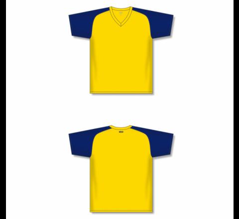 Custom Screen printed Soccer Jersey - Maize