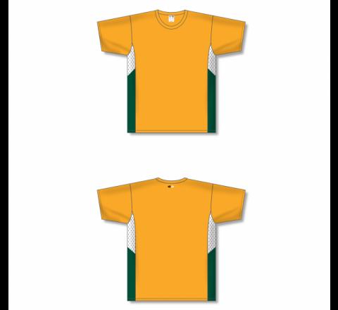 Custom Screen printed Soccer Jersey - Gold
