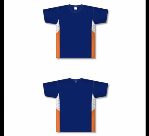 Custom Screen printed Soccer Jersey - Navy