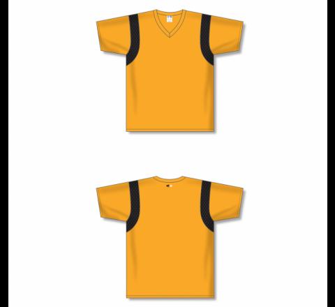Custom Screen printed Soccer Jersey - Gold/Black
