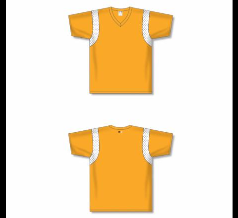 Custom Screen printed Soccer Jersey - Gold/White