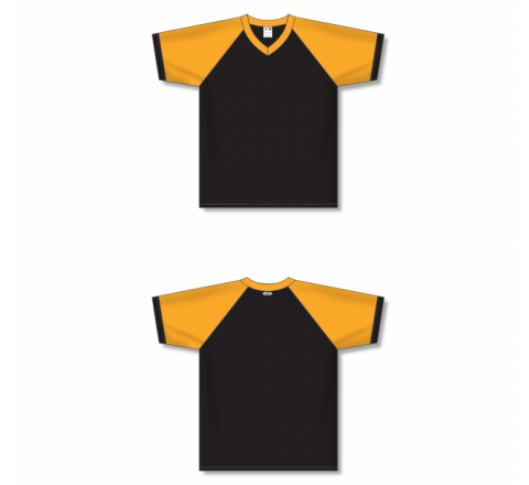 V-Neck Volleyball Jerseys - Black/Gold