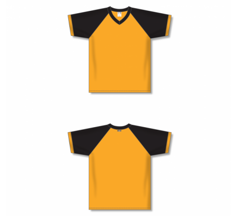 V-Neck Volleyball Jerseys - Gold/Black